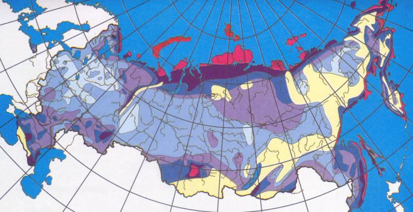 Фрагмент карты районирования по ветровым нагрузкам